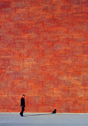 man with shadow