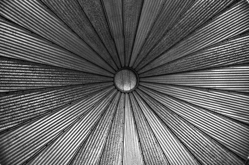 Inside A Grain Bin