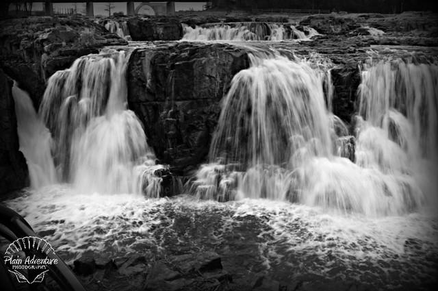 Black and White Waterfall