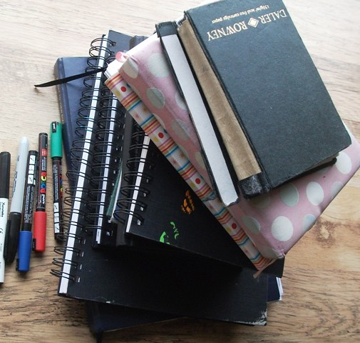 8 sketchbooks
