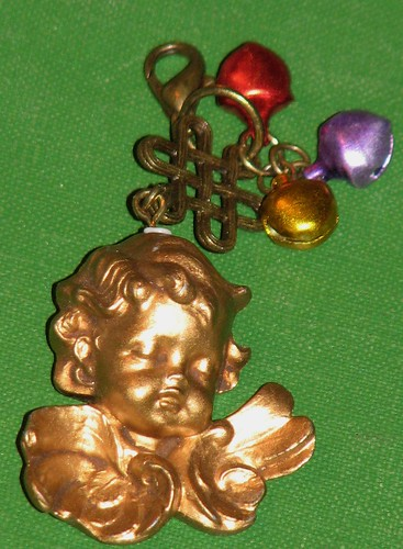 Ink Stains Altered Christmas Charm Swap 009