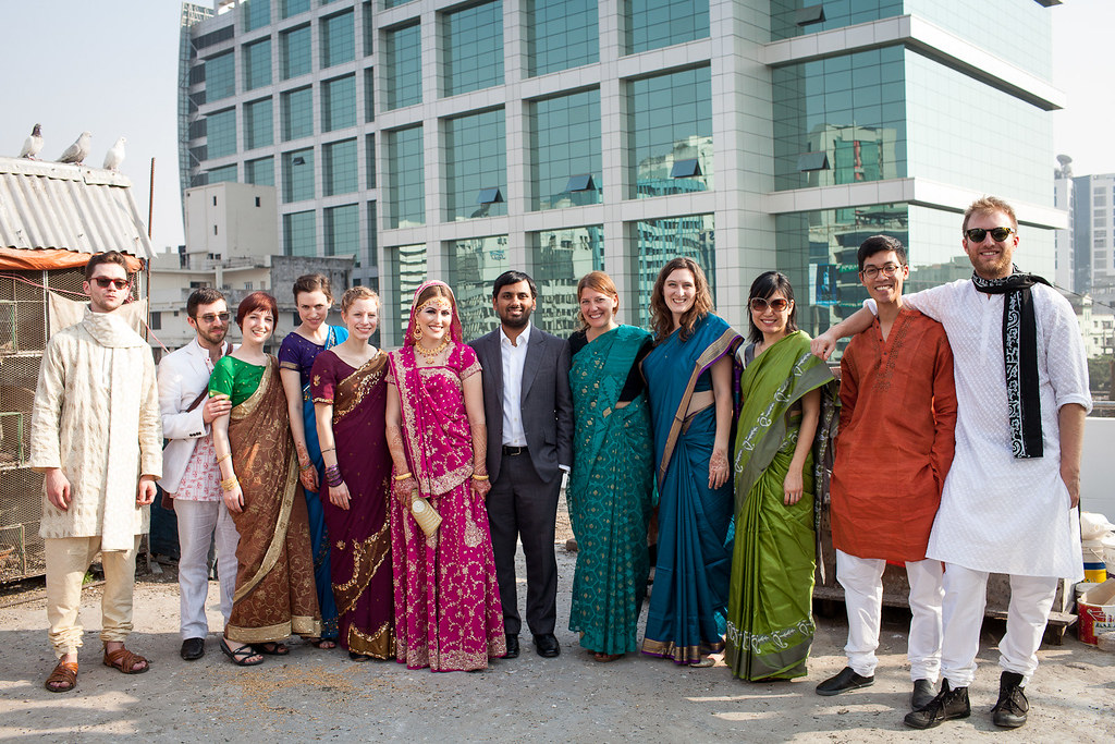 In 2012, a dozen of my closest friends and I all traveled to Dhaka, Bangladesh for our friends' wedding. One of the highlights was wearing a saree!