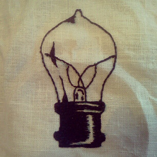 old fashioned light bulb