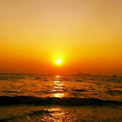 When the ocean eats the sun #goa #beach #sunSet