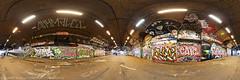 Leake St. London Graffiti Tunnel aka 'The Banksy Tunnel' 360 panorama & virtual tour