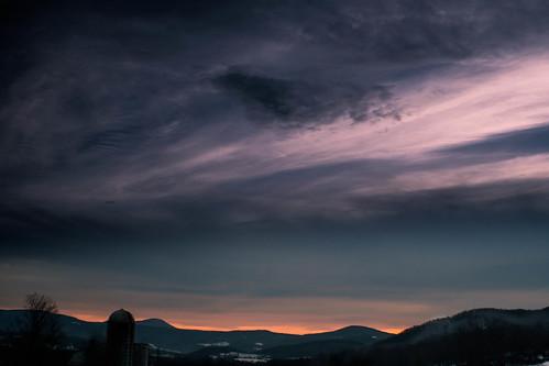 light sunset nature clouds dark landscape vermont before pawlet mygearandme