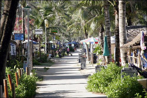 Walking street along Kamala beachfront