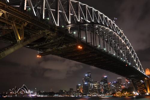 [フリー画像素材] 建築物・町並み, 橋, 都市・街, 夜景, 風景 - オーストラリア ID:201301202000