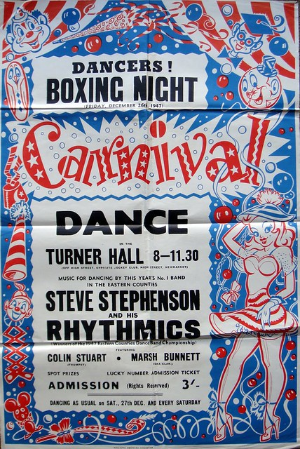 1947 Eastern Counties winners Steve Stephenson & His Rhythmics play a dance at Turner Hall, Newmarket, Suffolk. Friday, 26th, December, 1947