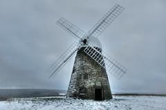 Snow-swept Halnaker Windmill