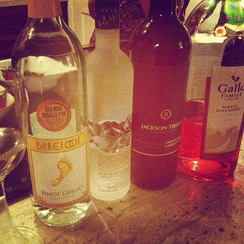 #happybirthday to my friend Ajay well stocked party of drinks that are new to me~