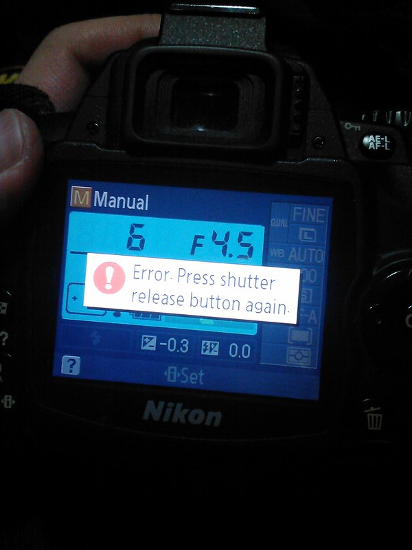 Nikon D40 Error Message