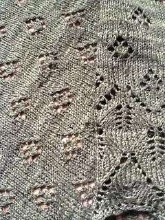 Merino/silk shawl