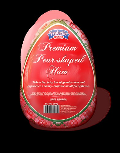 Pear Shaped Ham - packshot sample rendering