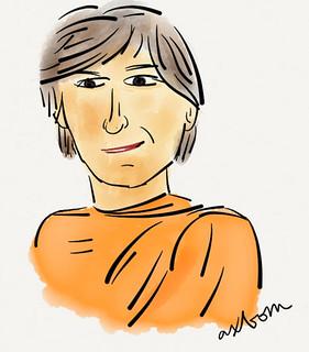 Steve Jobs in Buddhist robes #blogg100