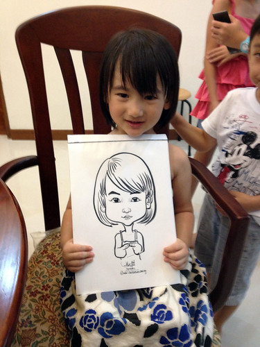 caricature live sketching for birthday party 14072012 - 1