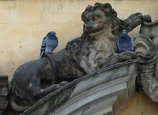 Image of  Frederiksberg Slot. statue lion todays posting frederiksbergslot löwenstatue løvestatue tp444 p1470130