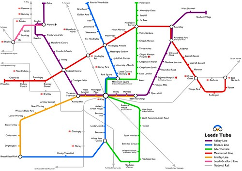 Leeds Tube map
