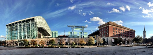 MinuteMaid Park panoramic shot