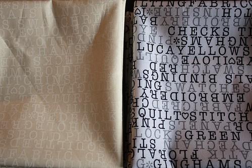 Text Me Swap fabrics