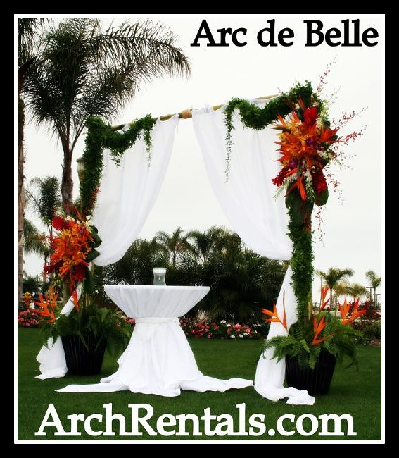 Bamboo Wedding Chuppa Arch By Arc De Belle 855 332 3553 M