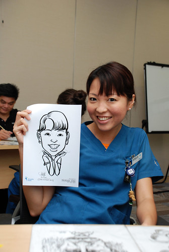 caricature live sketching for Khoo Teck Puat Hospital, Nurses' Day - 10