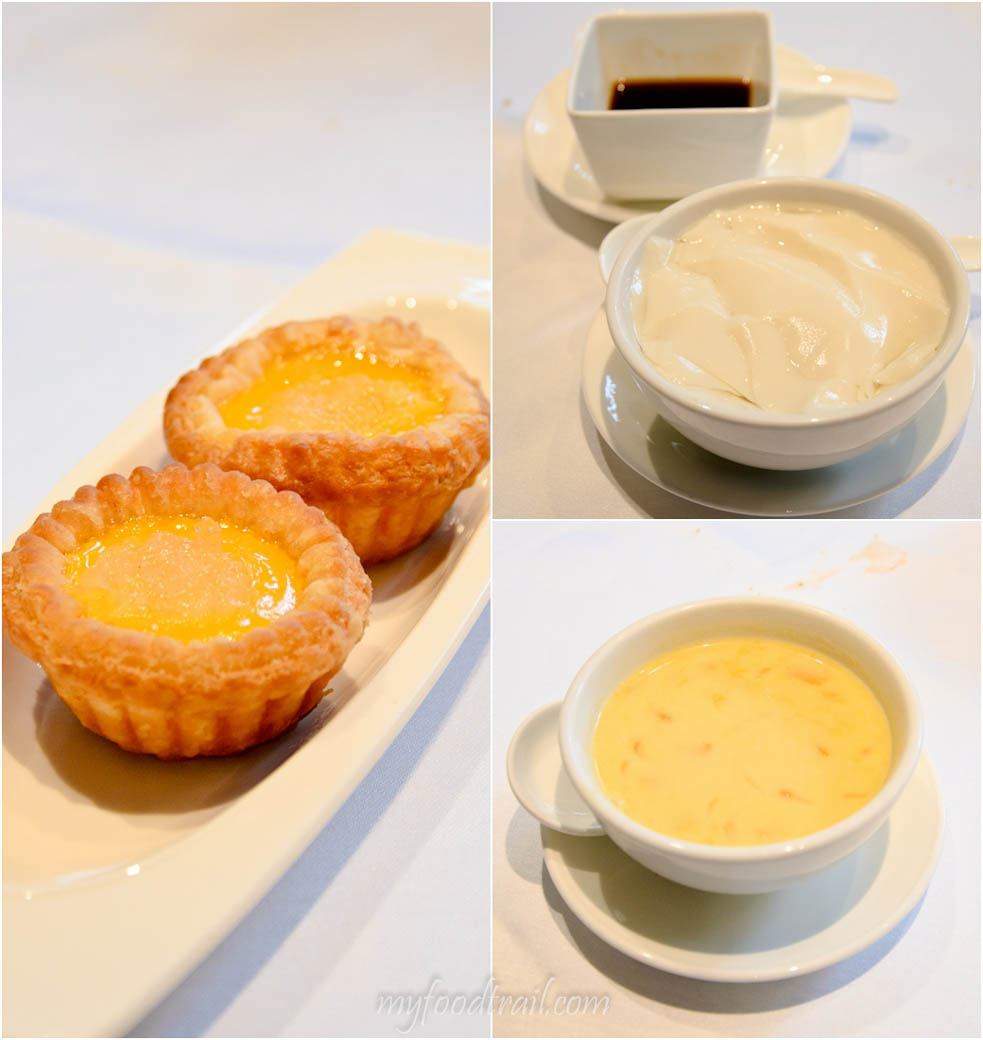 Cuisine Cuisine, The Mira, Hong Kong - Egg tarts, sweetened bean curd, mango cream