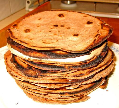 Tortillas di una miscela di mais azzurro tostato by fugzu