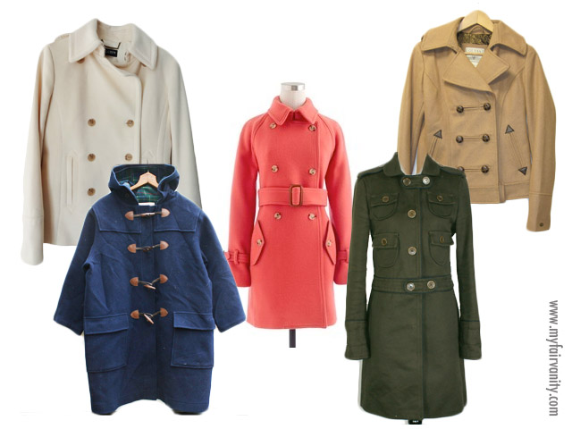 Hot coats for cold days, my fair vanity, style blog, ebay