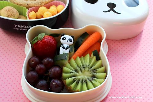 Panda bento box zig zag kiwi fruit