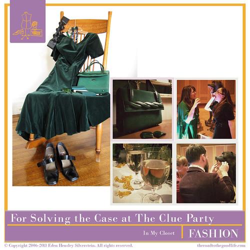 Outfit 4: #AltSummit #ClueParty #Green #AnneFogarty #Velvet #ViaSpiga