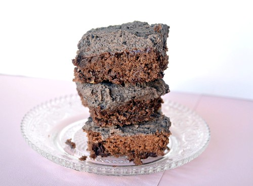fudgy brownies with oreo frosting