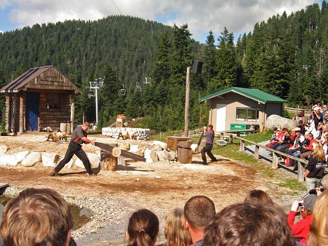 The Lumberjacks - sawing, Canon DIGITAL IXUS 750