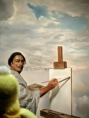 Swami chillin' with Dali at the Museum