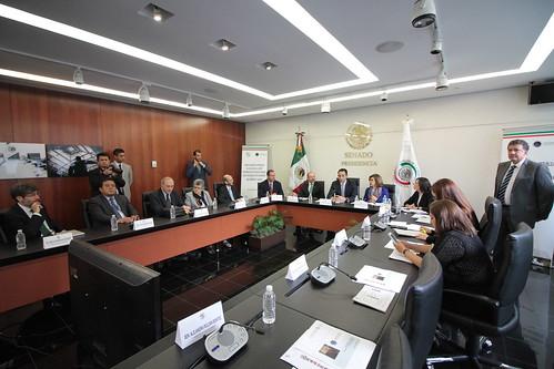 El día 22 de agosto del 2016 se llevó a cabo en el Senado de la República la Visita al Senado de la República de los Jueces de la Corte Interamericana de Derechos Humanos.