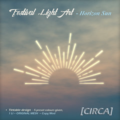 @ SaNaRae ~ Festival Light Art - Horizon Sun