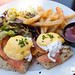 Eggs Norwegian - lemon pepper smoked salmon, rosemary focaccia, hollandaise sauce