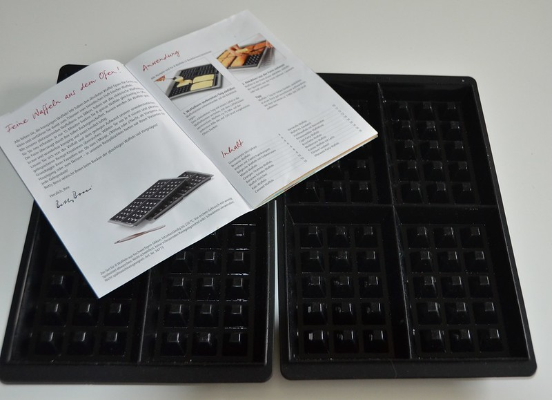 Waffle form and recipe book