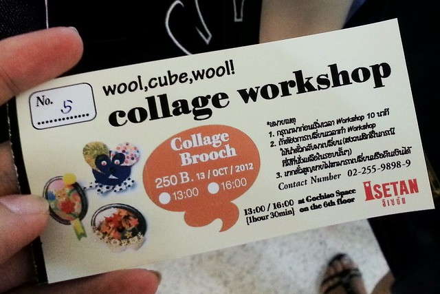 [WorkShop] Collage Broach with wool,cube,wool!