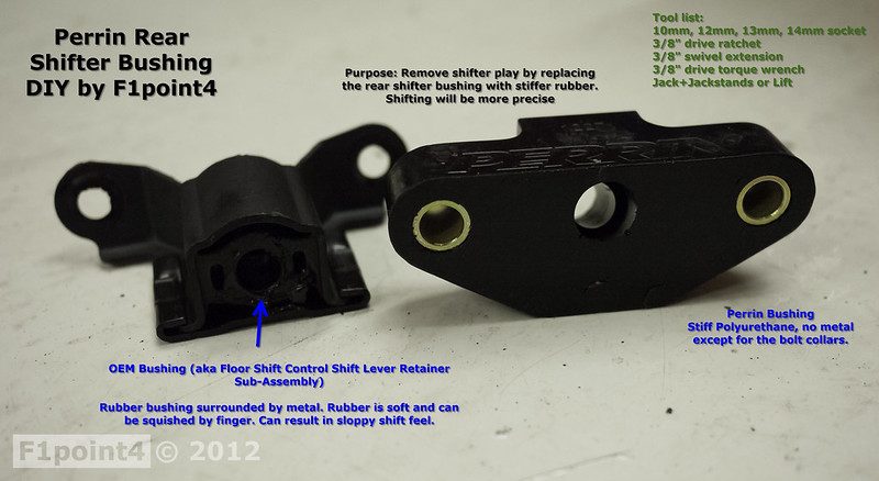 Perrin Rear Shifter Bushing Install - Scion FR-S Forum
