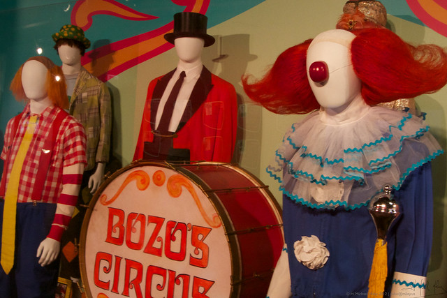 19 Bozo Costumes. Photo by H. Michael Miley