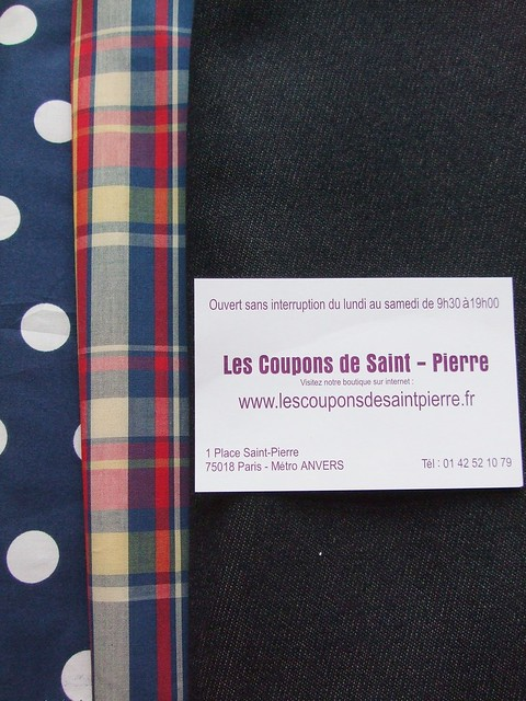 Fabric bought in Paris, Montmare area