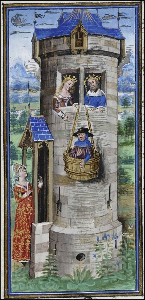 15th century illuminated manuscript miniature: Henri de Ferrières, Les Livres du roy Modus et de la royne Ratio 314