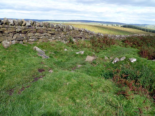 Robber trench on the E wall of Milecastle 44