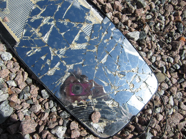 Found reflection, broken glass