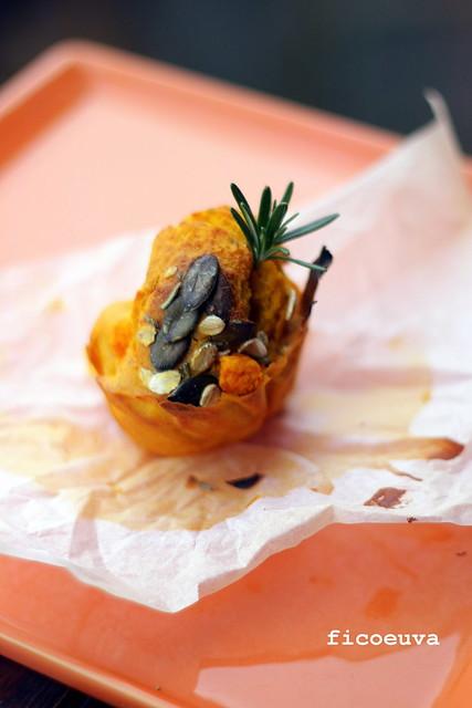 muffin semintegrali di zucca al profumo di rosmarino