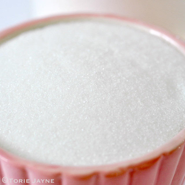 Caster sugar up close