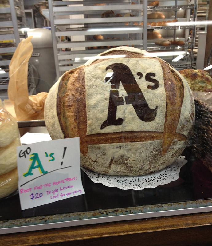 Oakland A's Triple Levain Loaf