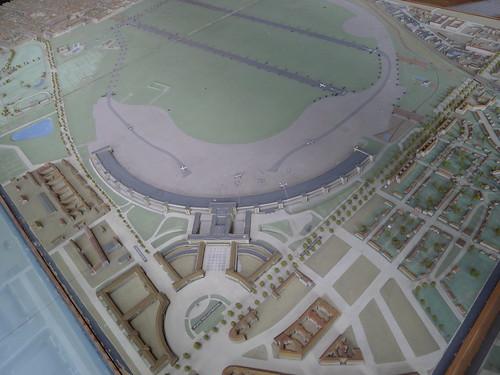 Modell vom Flughafen Tempelhof