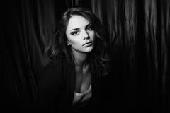 [フリー画像素材] 人物, 女性, モノクロ, ロシア人 ID:201210262200